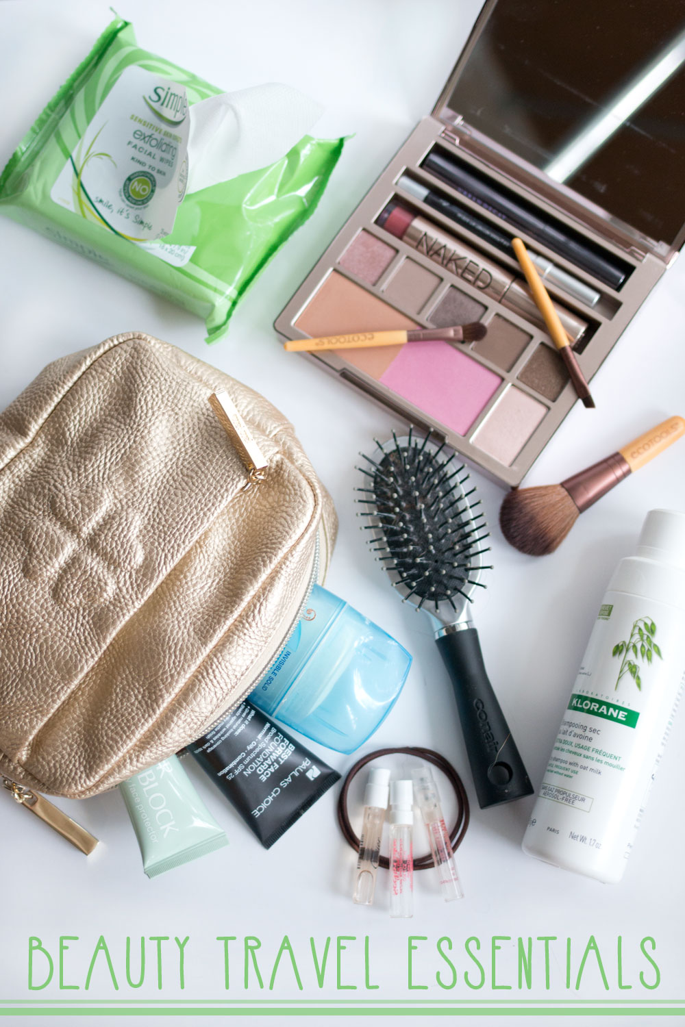 Travel Beauty Essentials with Simple #TestTheWaters / hellorigby seattle beauty and fashion blog