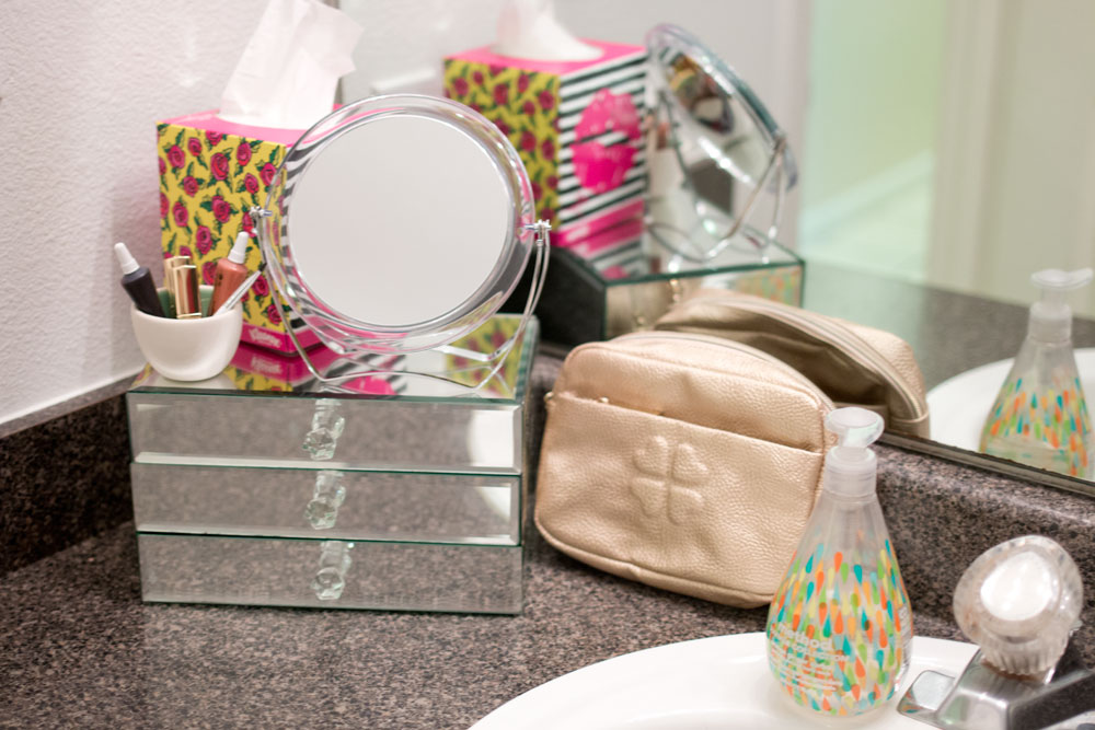 Betsey Johnson Kleenex Style Bathroom Vanity Makeover #KleenexStyle #shop / hellorigby seattle fashion and lifestyle blog