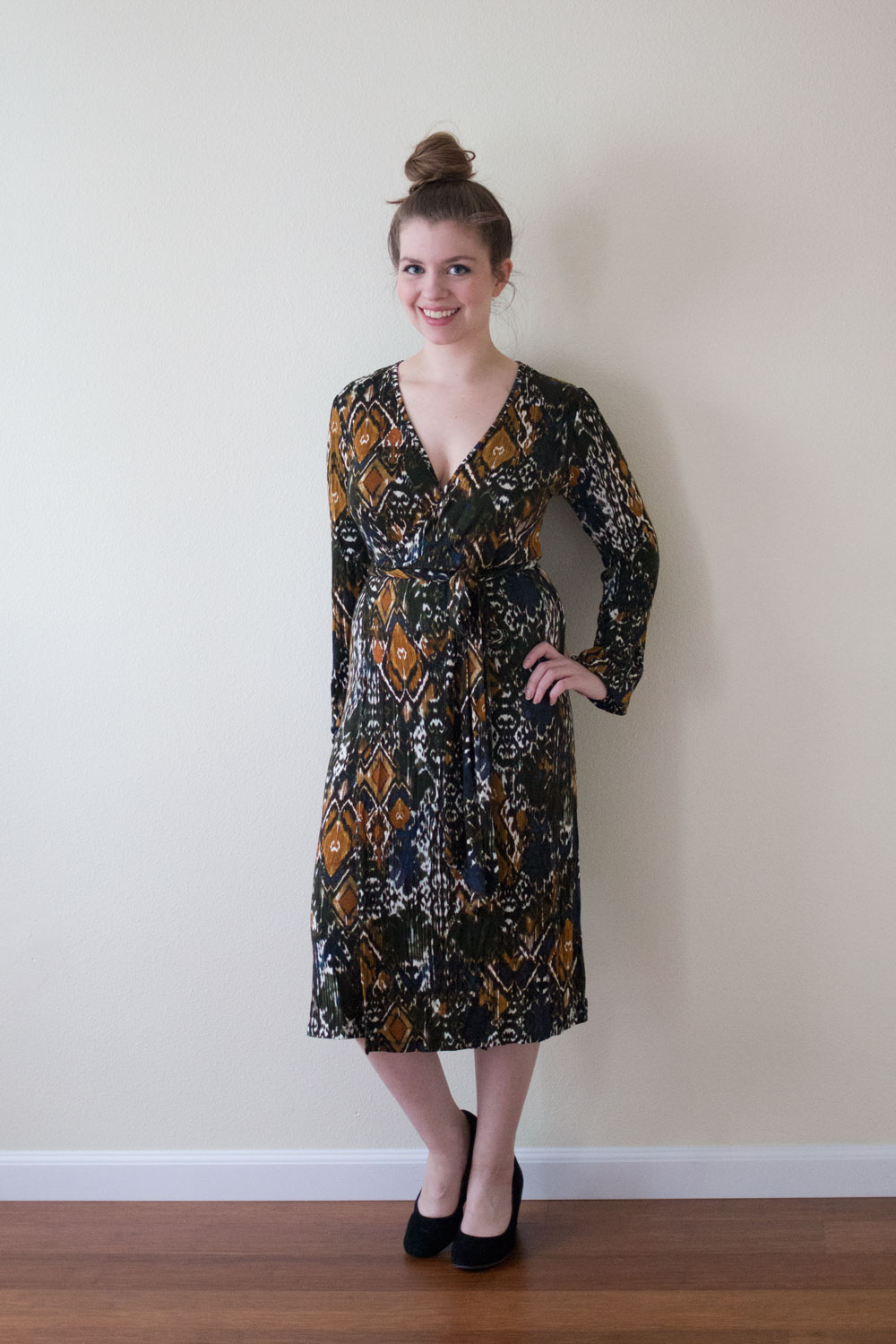DailyLook Midi Pattern Wrap Dress / DailyLook Elite Box April 2015 Review / hellorigby seattle fashion and lifestyle blog