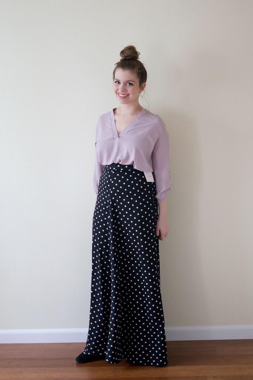 DailyLook Polka Dot Maxi Skirt / DailyLook Elite Box April 2015 Review & Styling / hellorigby seattle fashion and lifestyle blog