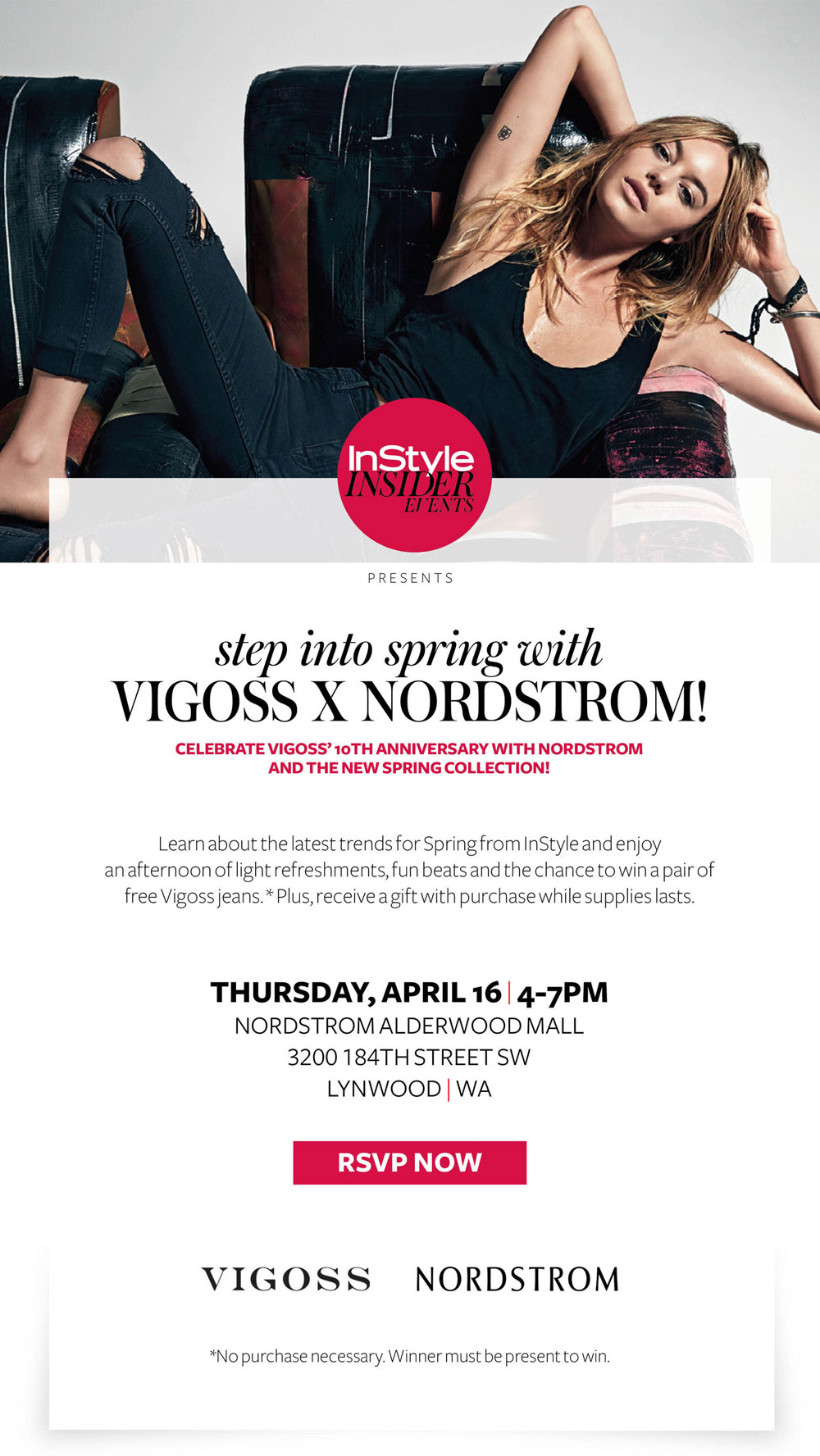 InStyle Insider Nordstrom x Vigoss Jeans Event - April 16th at Alderwood Mall in Lynnwood, WA / hellorigby seattle fashion blog