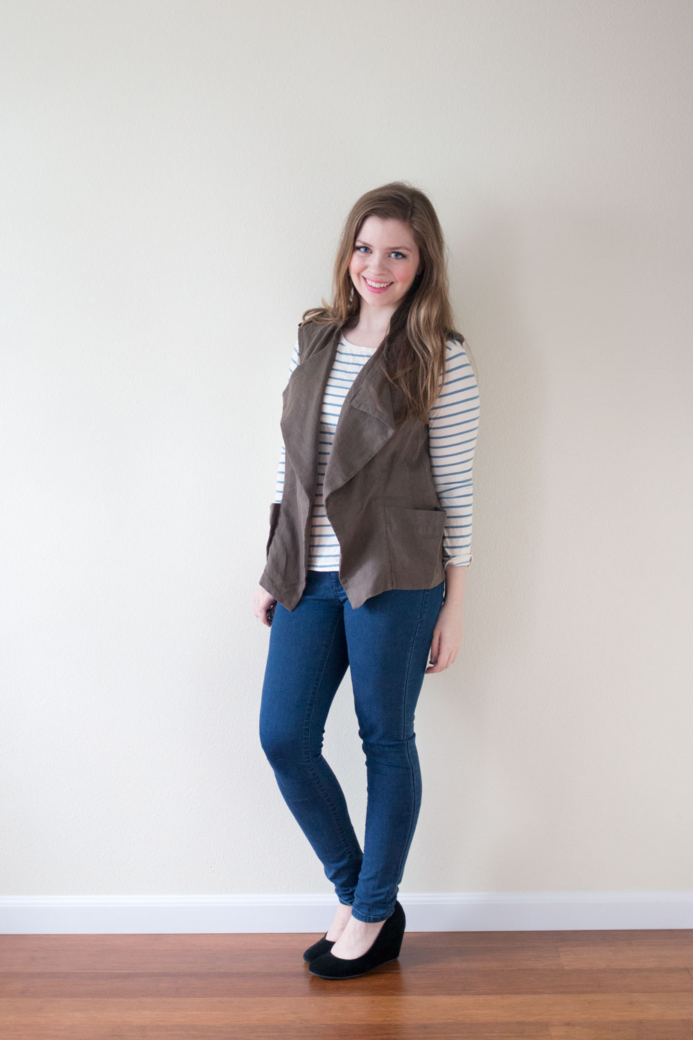 Stitch Fix April 2015: Kut from the Kloth Troy Drape Vest / hellorigby seattle fashion and lifestyle blog