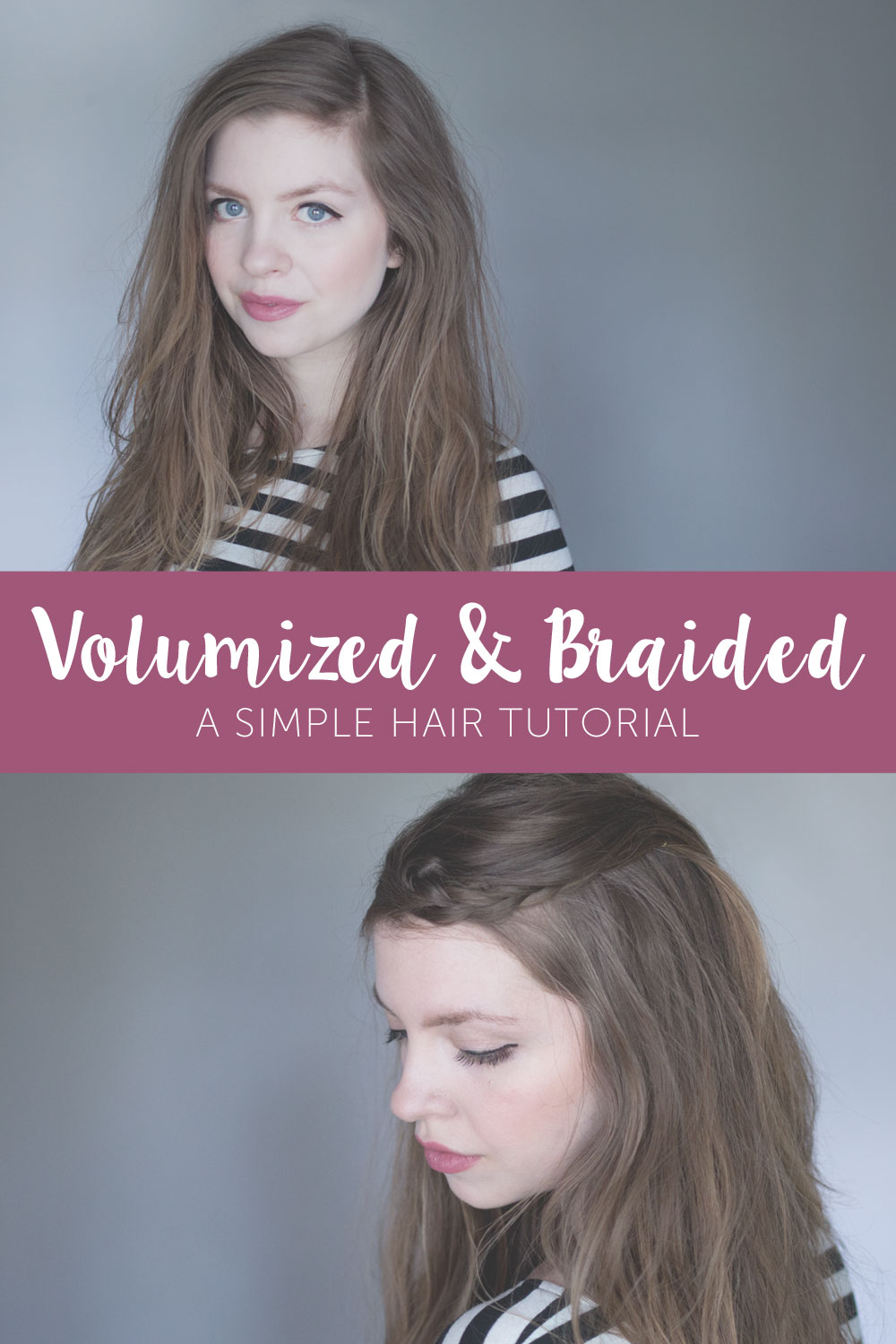 Volume Hair & Crown Braid Tutorial with Suave Luxe Style Infusion #ad / hellorigby seattle fashion and beauty blog