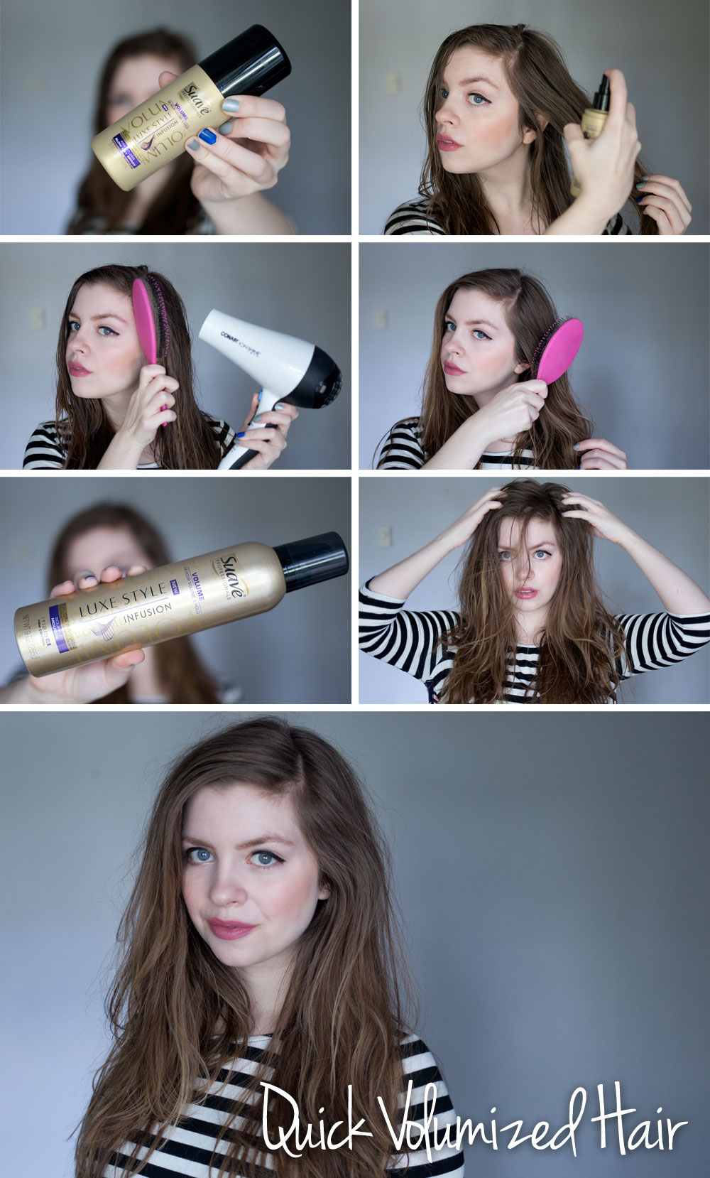 Volumized Hair Tutorial with Suave Luxe Style Infusion #ad / hellorigby seattle fashion and beauty blog