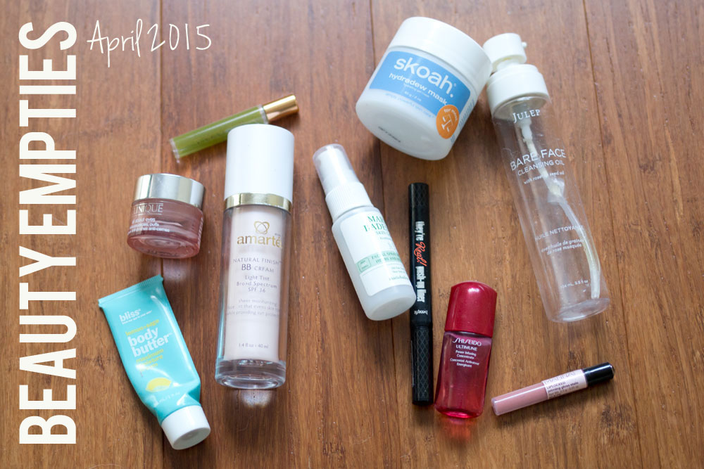 Beauty Empties: Used Up Products from April 2015 / hellorigby seattle beauty blog