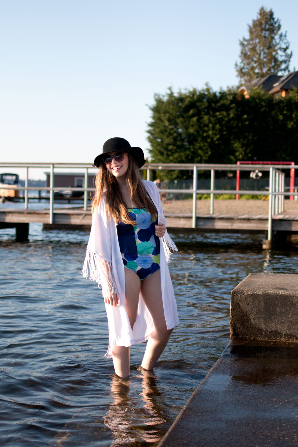 Lime Ricki Swimwear Modest Peplum Swimsuit Review, Coupon, and Giveaway / hellorigby seattle fashion blog