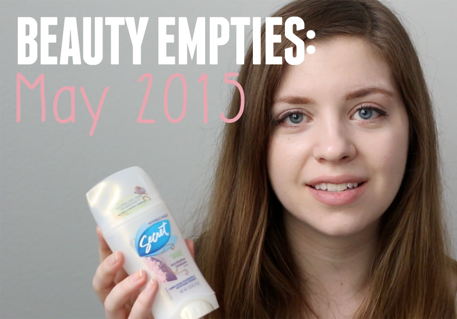 Beauty Empties & Used Up Products for May 2015 / hellorigby seattle beauty blog