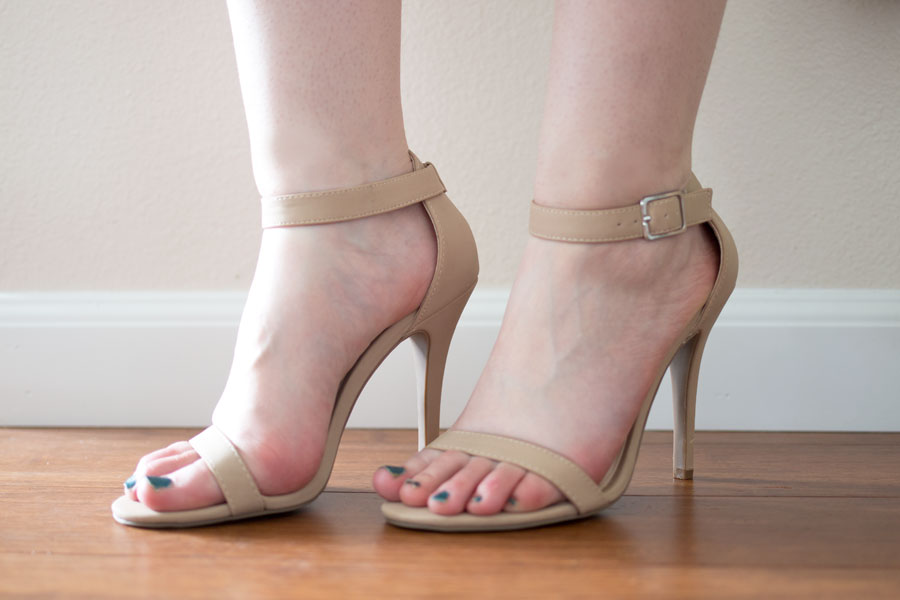Daily Look Elite Box Review:  Simple Strap Heels in Nude / hellorigby seattle fashion blog