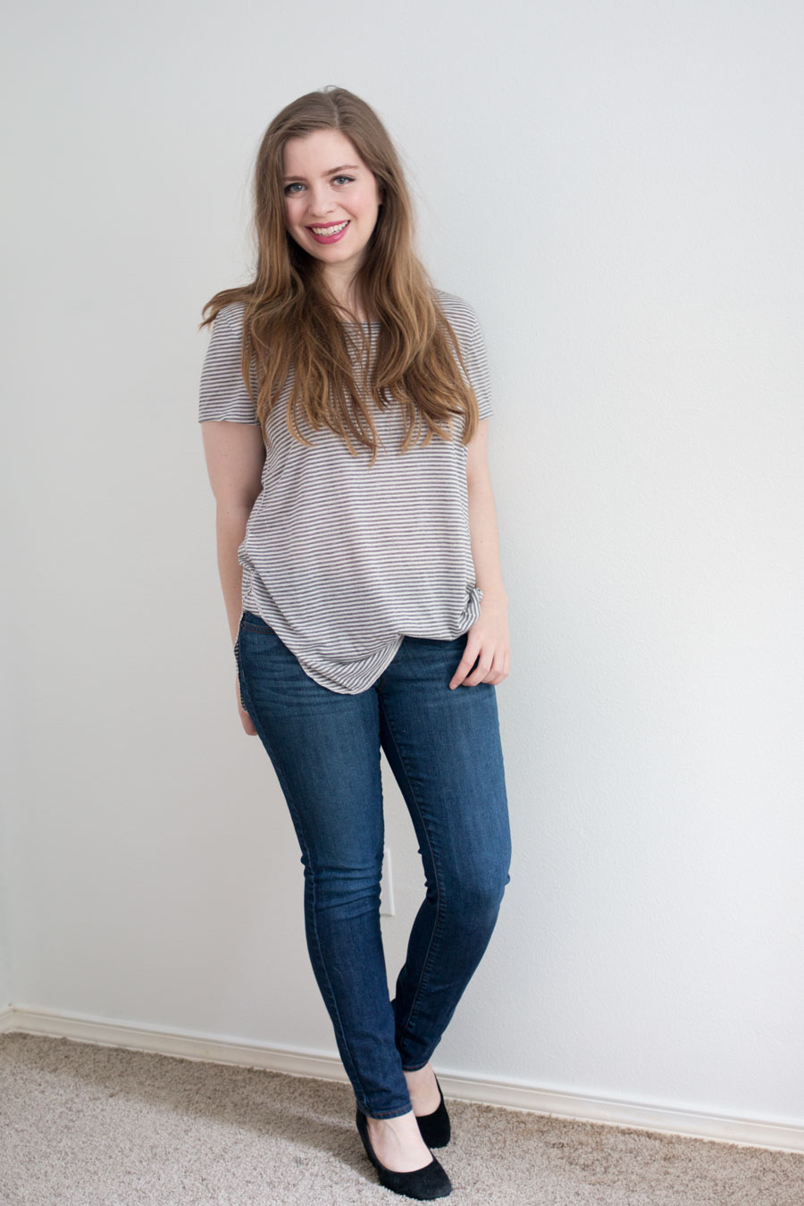 Daily Look Elite Box Review:  Gentle Fawn Manray Top in Gray Stripes / hellorigby seattle fashion blog