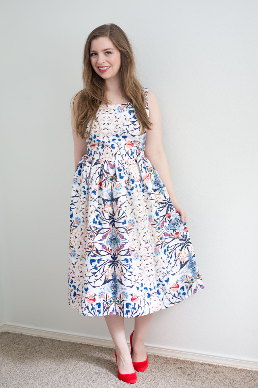 Daily Look Elite Box Review: Glamorous Floral Print White Prom Dress / hellorigby seattle fashion blog