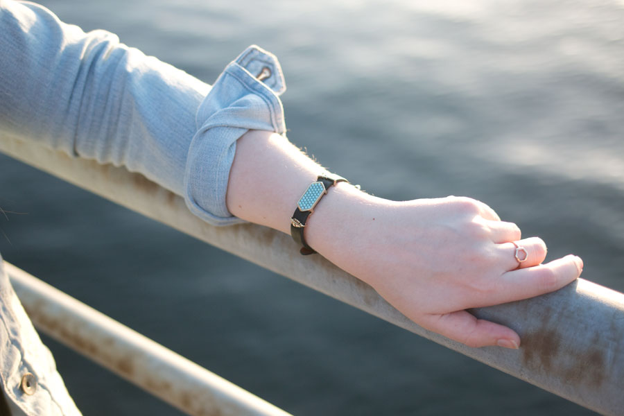 KEEP Colelctive Bracelet with Eiffel Tower, Leaf, and Leather Band Review / hellorigby seattle fashion blog