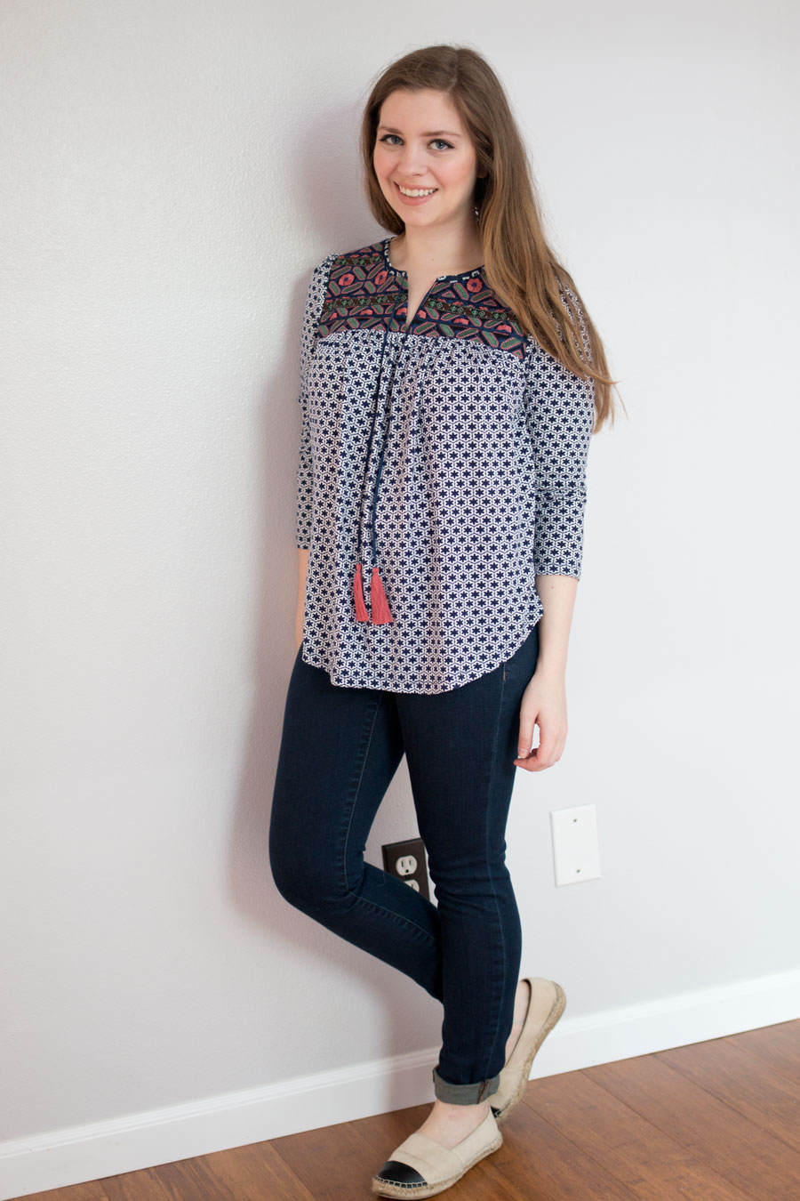 Stitch Fix June 2015 Review: Ezra Cuballa Embroidery Knit Top / hellorigby seattle fashion blog