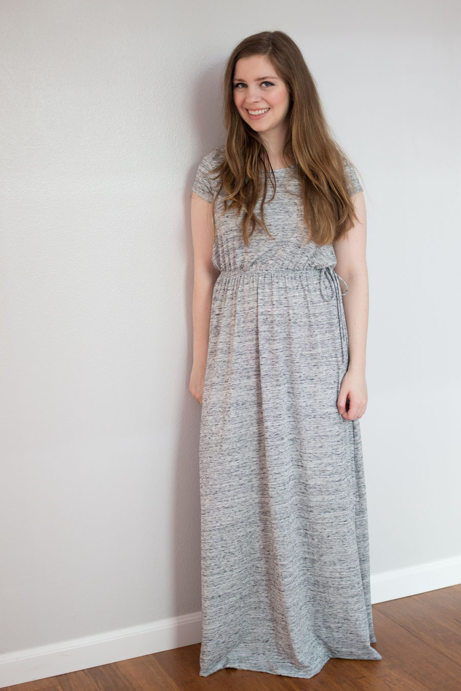 Stitch Fix June 2015 Review: Gilli Keli Maxi Dress in Gray / hellorigby seattle fashion blog
