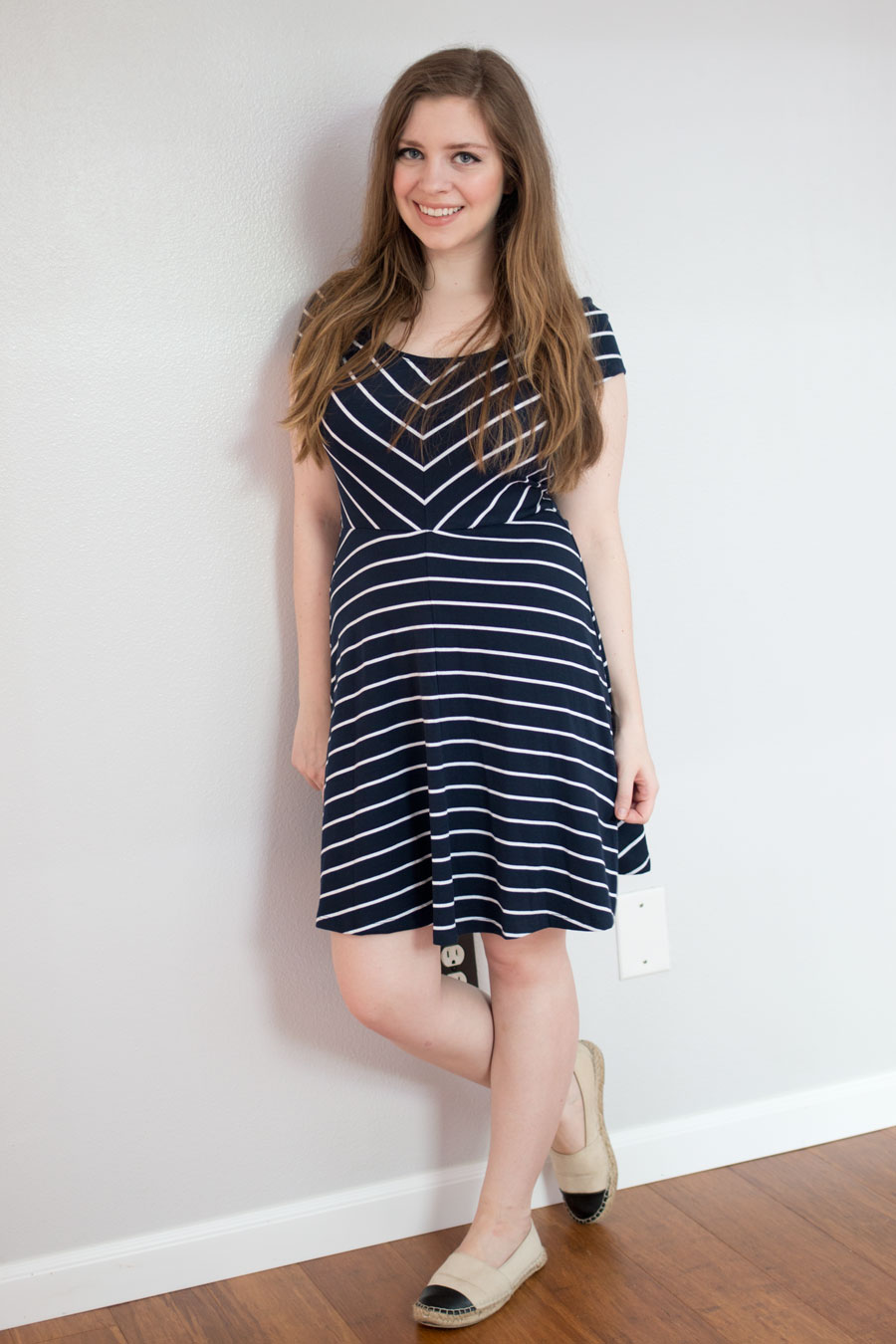 Stitch Fix June 2015 Review: Market & Spruce Spencer Striped Jersey Dress / hellorigby seattle fashion blog