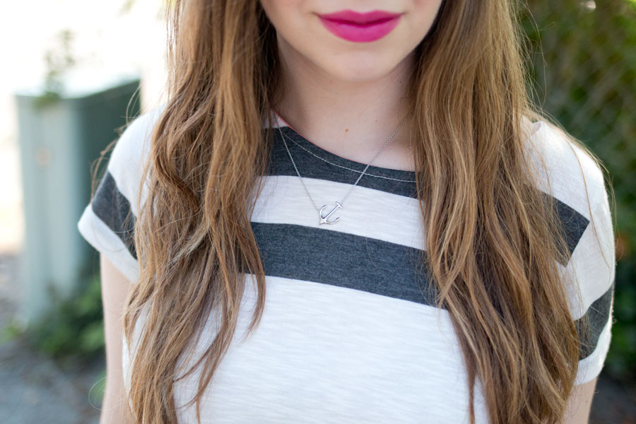 The Collegiate Standard Anchor Sideway Pendant Necklace / hellorigby seattle fashion blog