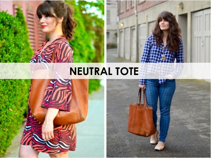 5 Must Have Handbags: Neutral Tote / hellorigby seattle fashion blog