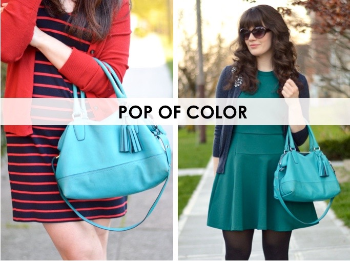 5 Must Have Handbags: Pop of Color / hellorigby seattle fashion blog