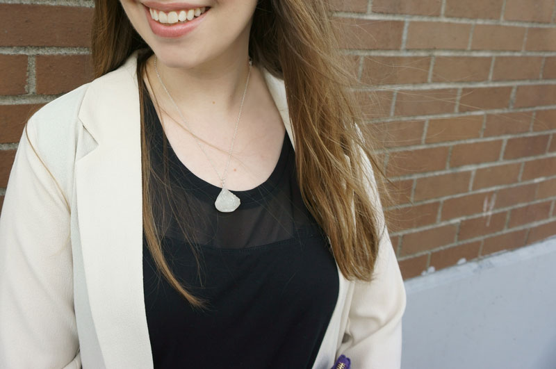 Druzy Pendant by Cutie Gems Necklace from Emerald Cuff / hellorigby seattle fashion blog