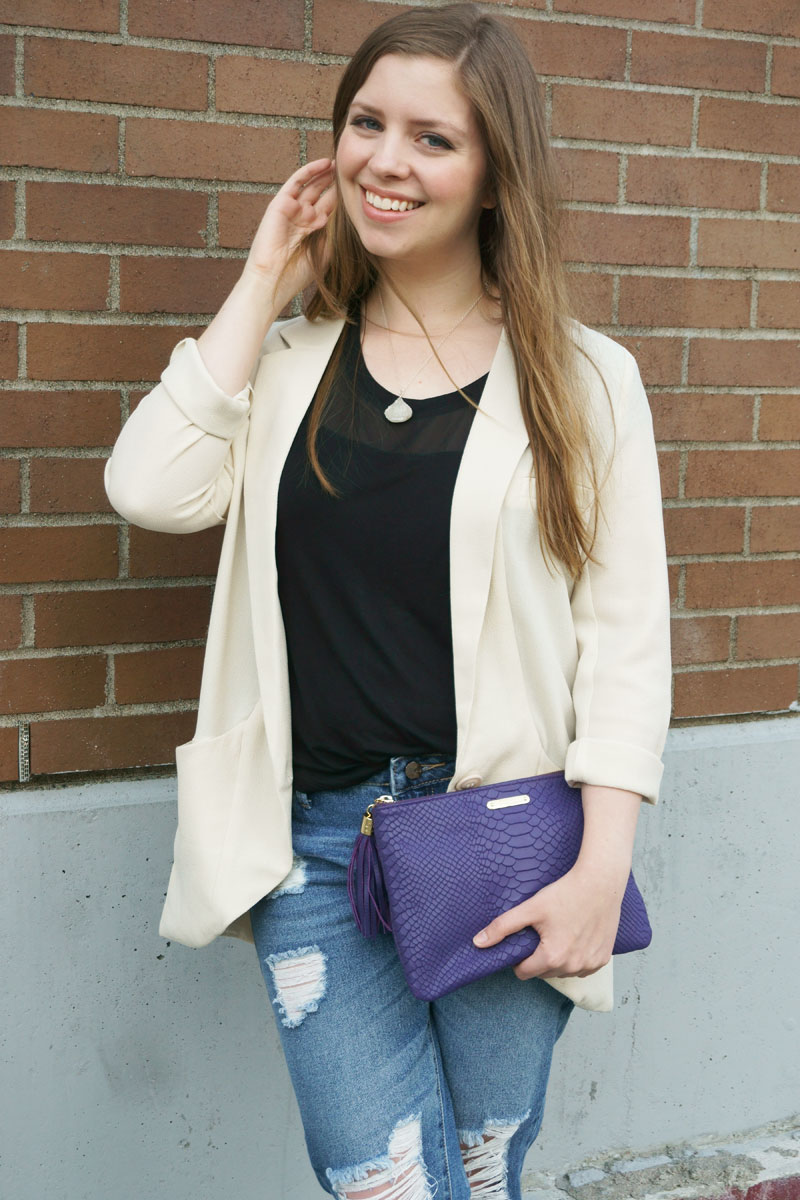 Emerald Cuff Boyfriend Blazer Collection Review & Styling // hellorigby seattle fashion blog