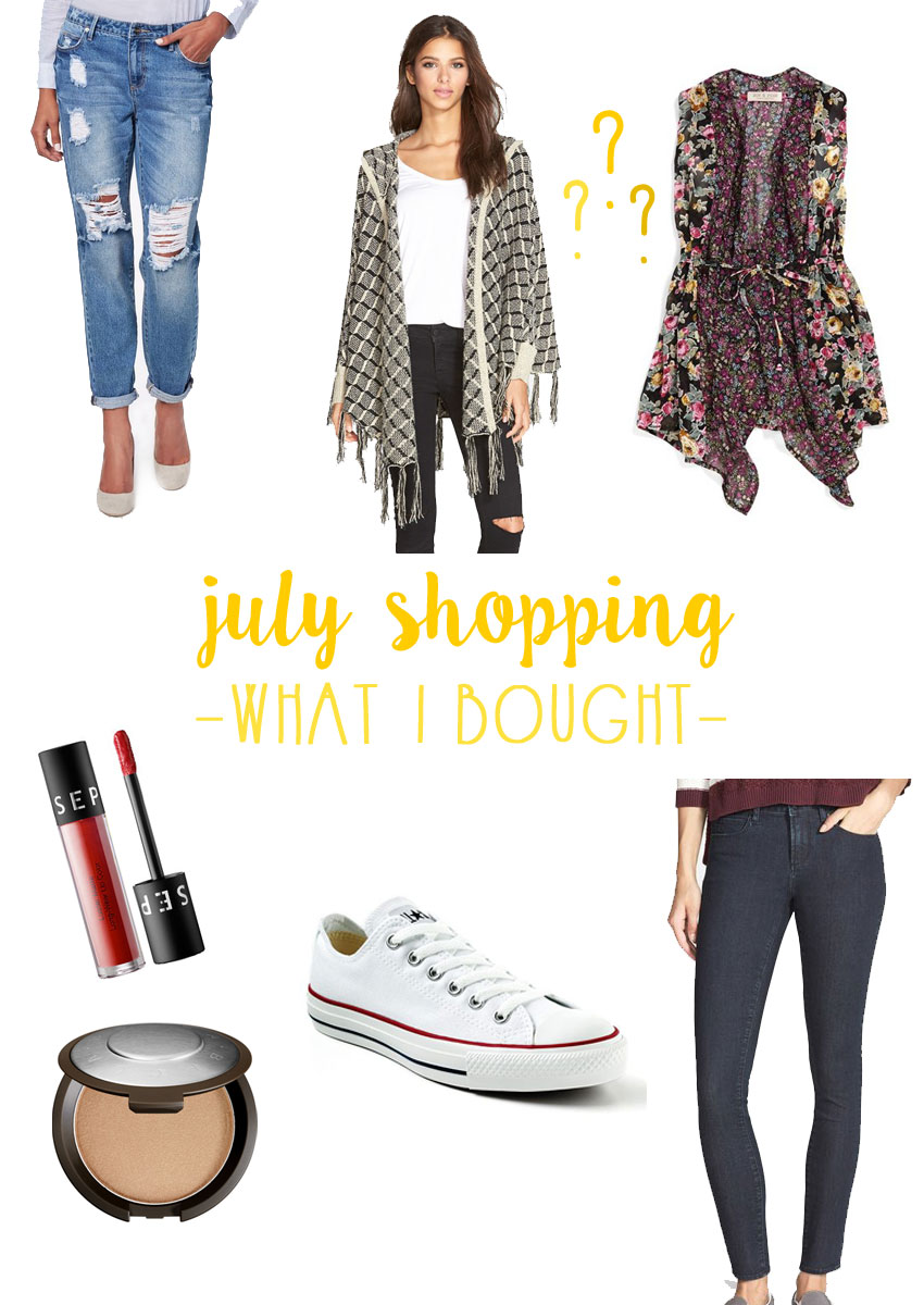 What I Bought: July Shopping Haul / hellorigby seattle fashion blog