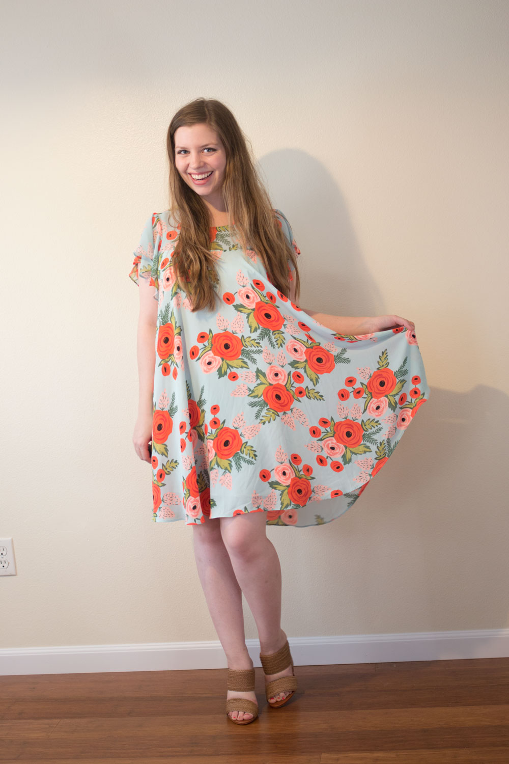 Dailylook Elite August 2015 Review & Styling:  Schutz Emyly Tranca Slip on Heels & Rifle Paper Co x Paper Crown Swing Dress // hellorigby seattle fashion blog