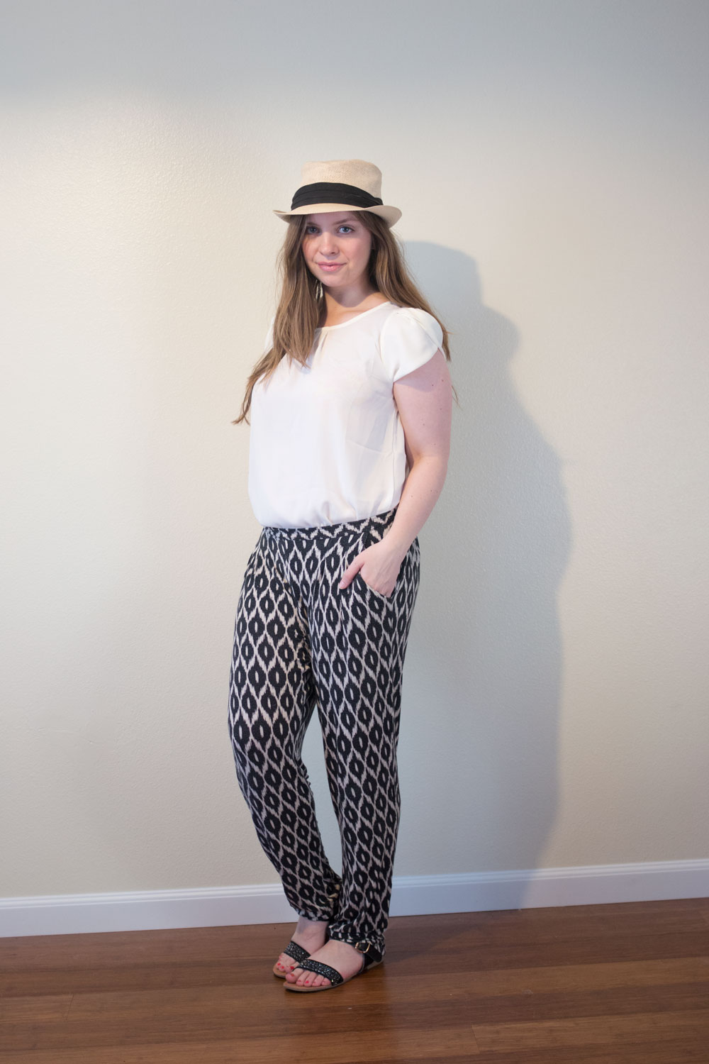 Stitch Fix August 2015 Review & Styling // Papermoon Bastille Tulip Sleeve Blouse in Off-White // hellorigby.com seattle fashion blogger