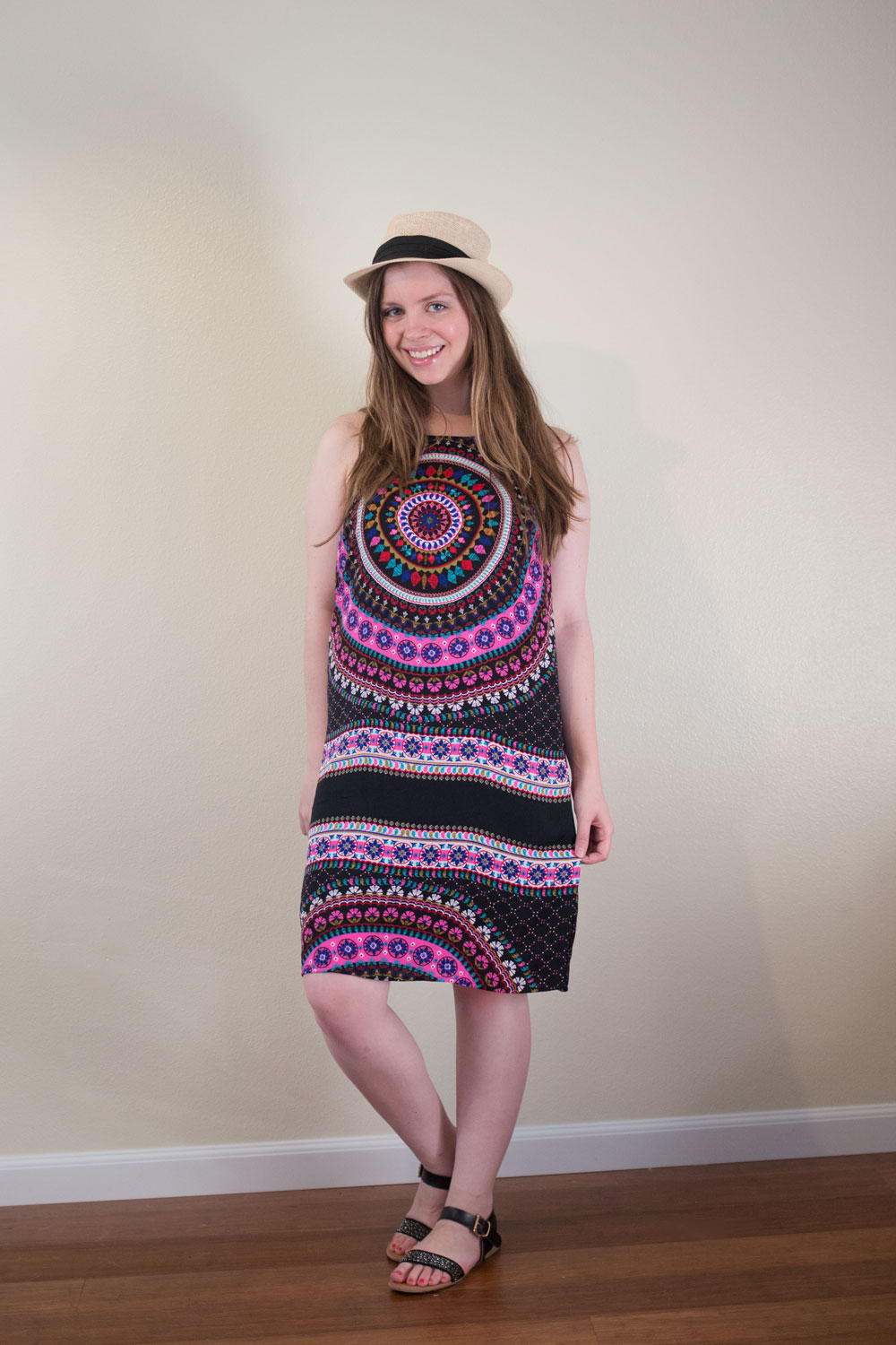 Stitch Fix August 2015 // Renee C Lahna Printed Dress in Fuchsia // hellorigby.com seattle fashion blogger