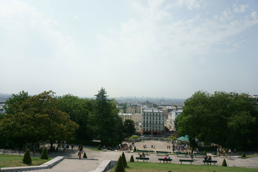 View from Sacre Couer Montmartre // hellorigby seattle travel vlogger