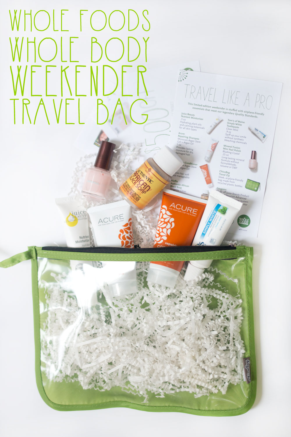 Whole Foods Whole Body Weekender Travel Bag Review // hellorigby seattle beauty blog