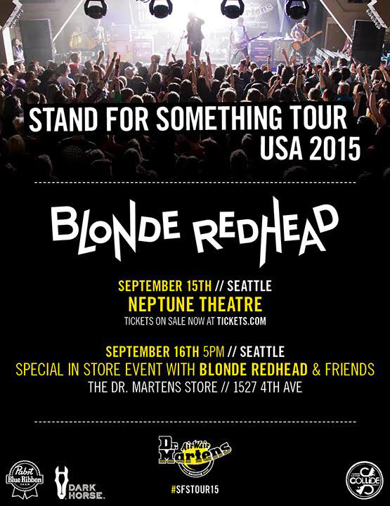 Dr. Martens x Blonde Redhead Seattle Event Flyer - September 16, 2015 // hellorigby seattle fashion blog
