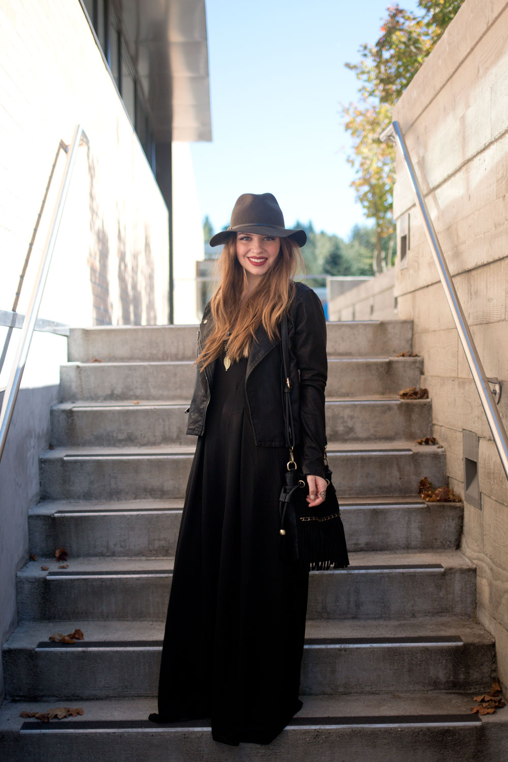 How to Wear Maxi Dress & Emerald Cuff Fall 2015 // hellorigby seattle fashion blog