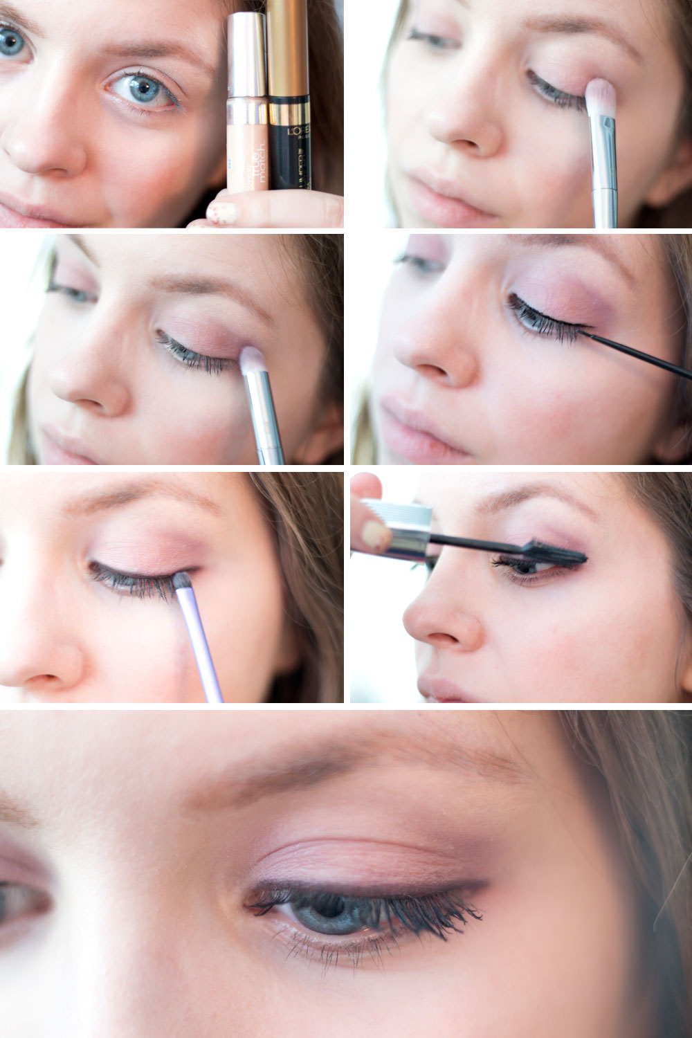 Everyday Neutral Eye Tutorial with L'Oreal La Palette Nude 2 & Voluminous Butterfly Mascara // hellorigby seattle beauty blog