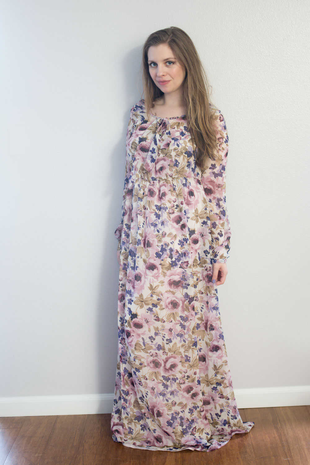 LC Lauren Conrad Runway Collection Floral Peasant Maxi Dress // hellorigby seattle fashion blog
