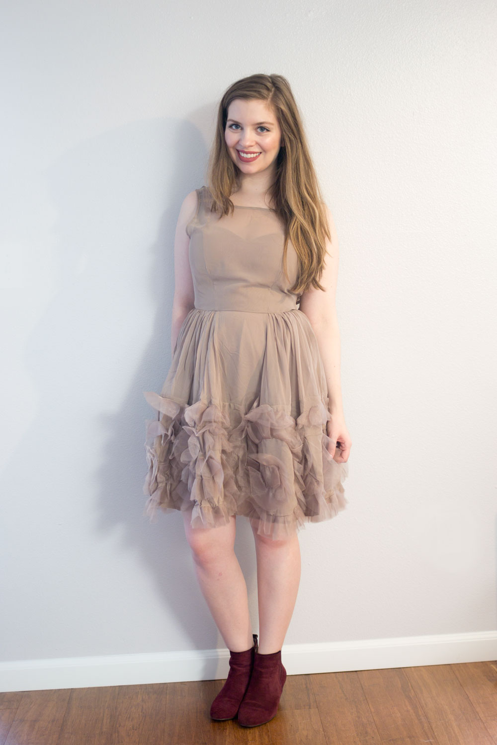 LC Lauren Conrad Runway Collection Ruffle Organza Dress // hellorigby seattle fashion blog