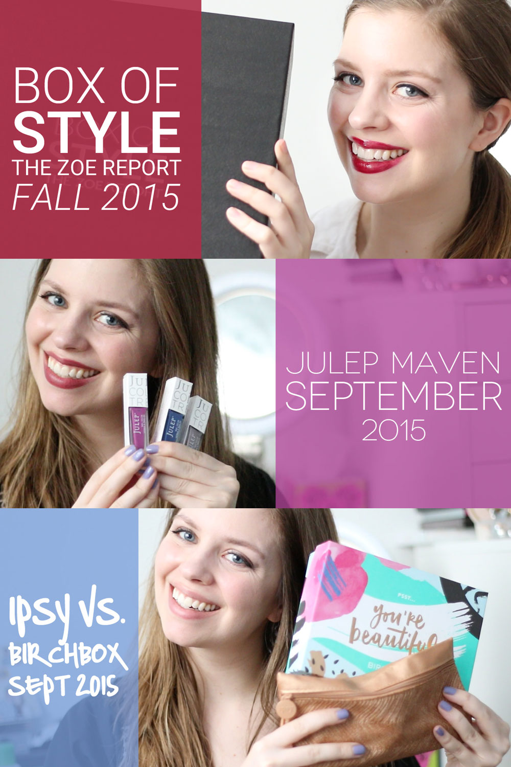 Subscription Boxes Lately: The Zoe Report Box of Style Fall 2015, Ipsy vs. Birchbox, and Julep Maven September // hellorigby seattle style blog