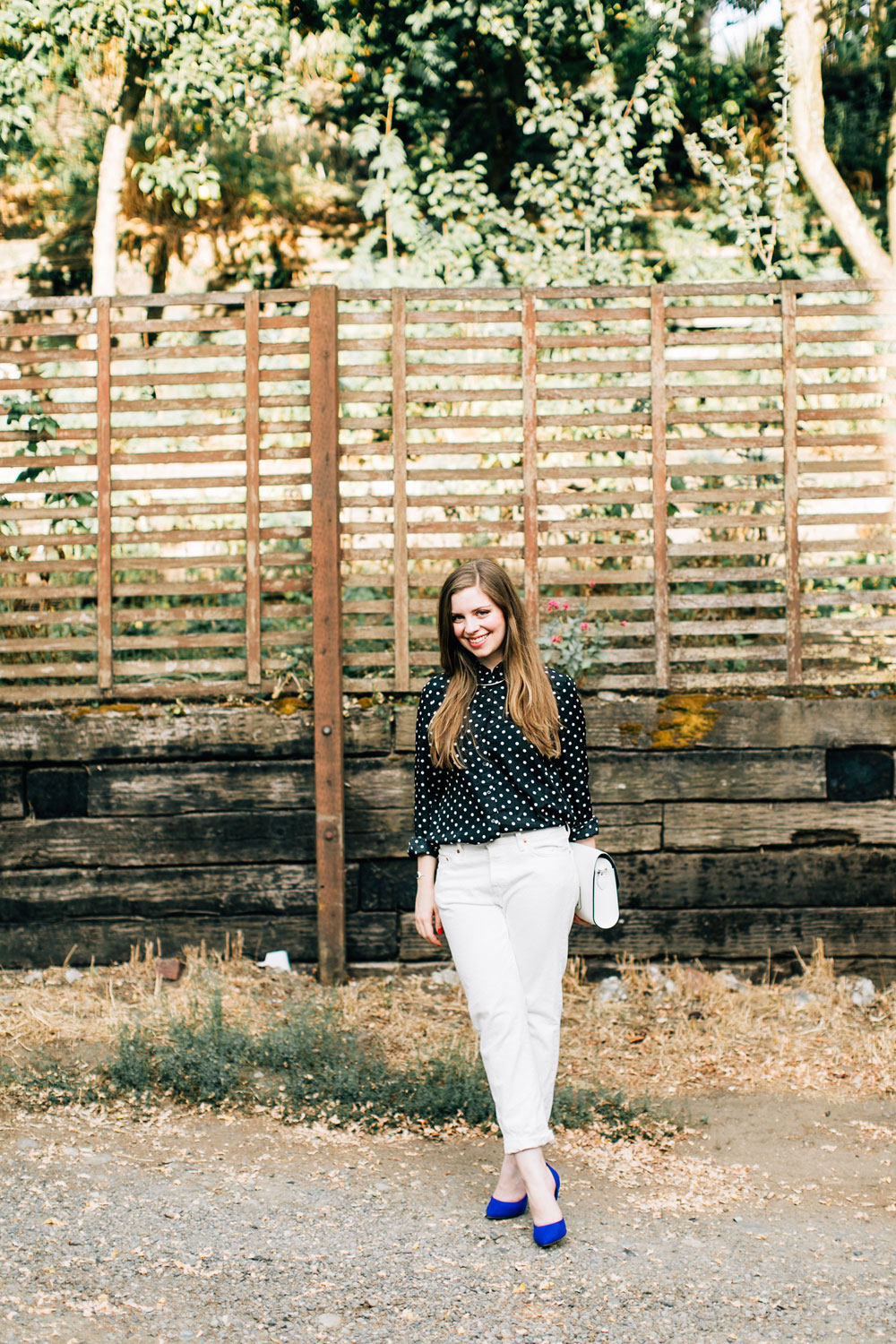 White After Labor Day with Polka Dots // hellorigby seattle fashion blog