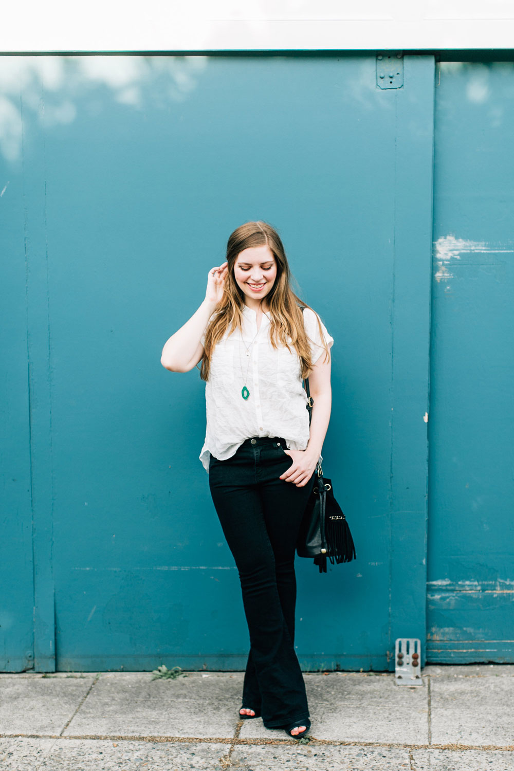 70s Revival Flare Jeans Outfit // hellorigby seattle fashion blog