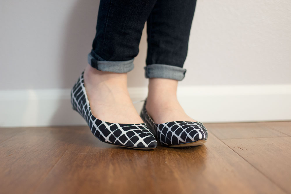 Adam Lippes for Target Pointed Ballet Flat in Black & White Plaid // hellorigby seattle fashion blog