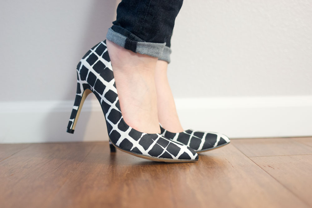 Adam Lippes for Target Pointed Toe Pump in Black & White Plaid // hellorigby seattle fashion blog