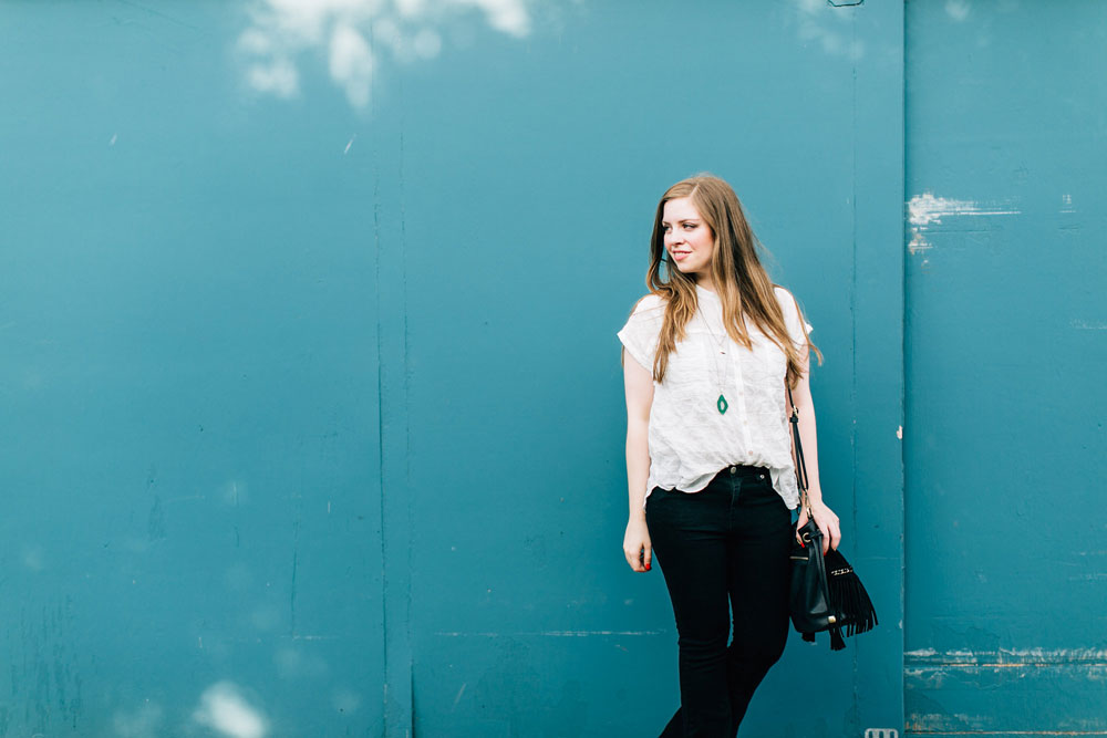 Black Flare Jeans Outfit // hellorigby seattle fashion blog