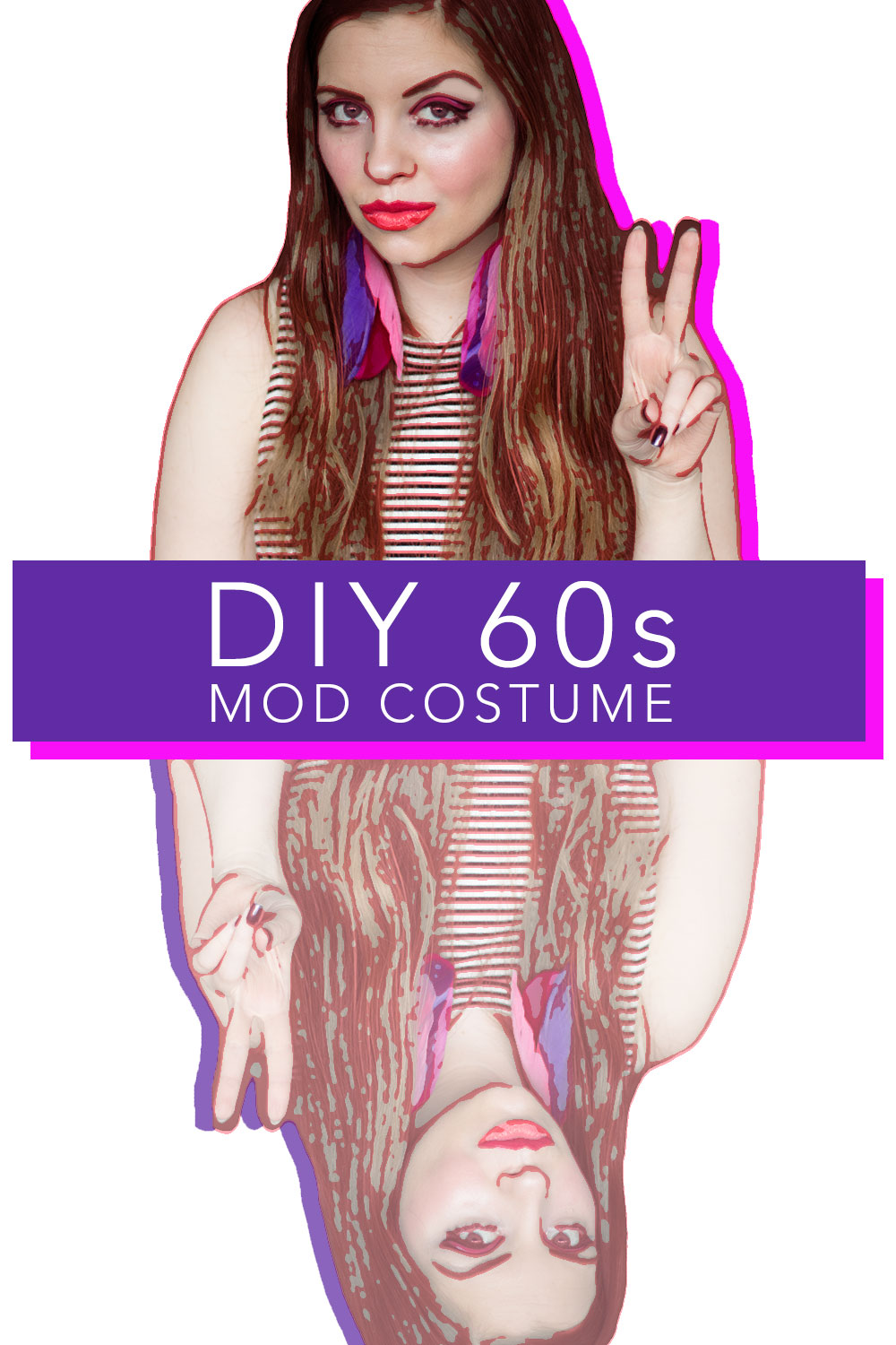 DIY 60s Mod Costume for Halloween (Twiggy Inspired) // hellorigby seattle fashion & beauty blog