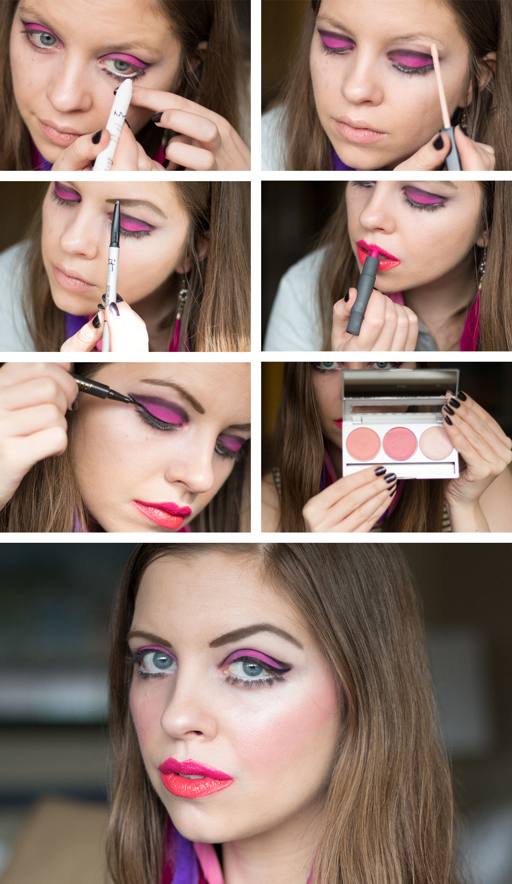 DIY 60s Mod Costume Makeup Tutorial for Twiggy Costume // hellorigby seattle beauty blog