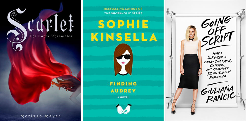 Favorite Books September: Going Off Script by Giuliana Rancic, Finding Audrey by Sophie Kinsella, & Scarlet by Marissa Meyer // helloigby seattle lifestyle blog
