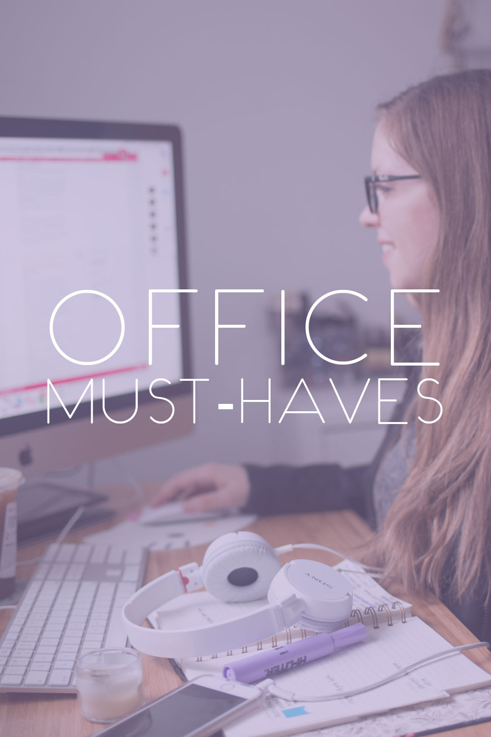 Office Must Haves with Essilor Eyezen Glasses // hellorigby seattle lifestyle blog