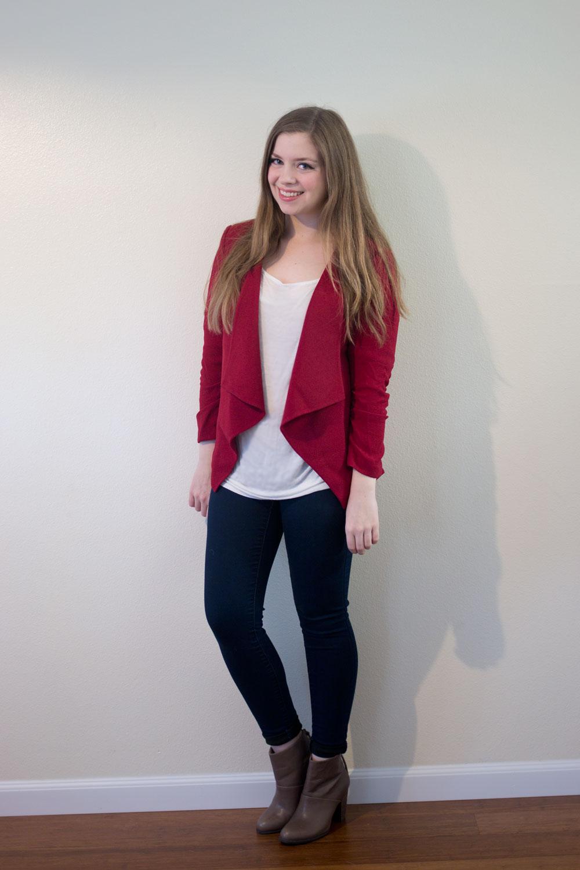 Stitch Fix October 2015: Alice Blue Asilah Drape Blazer // hellorigby seattle fashion blog