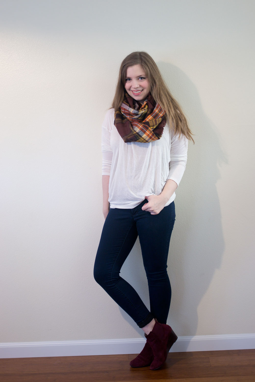 Stitch Fix October 2015: Look by M Sammie Plaid Infinity Scarf // hellorigby seattle fashion blog