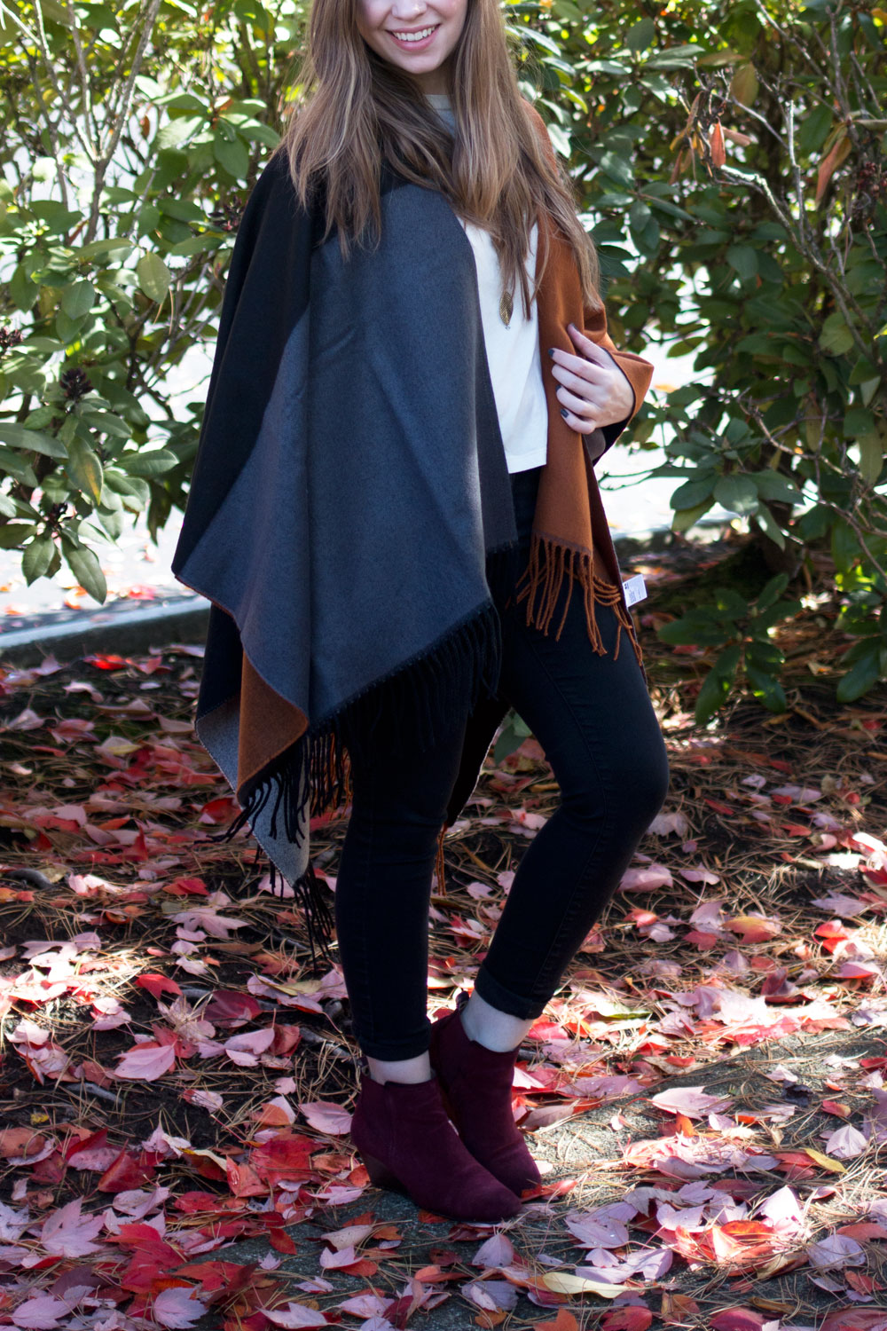 Styling a Poncho for Fall // hellorigby seattle fashion blog
