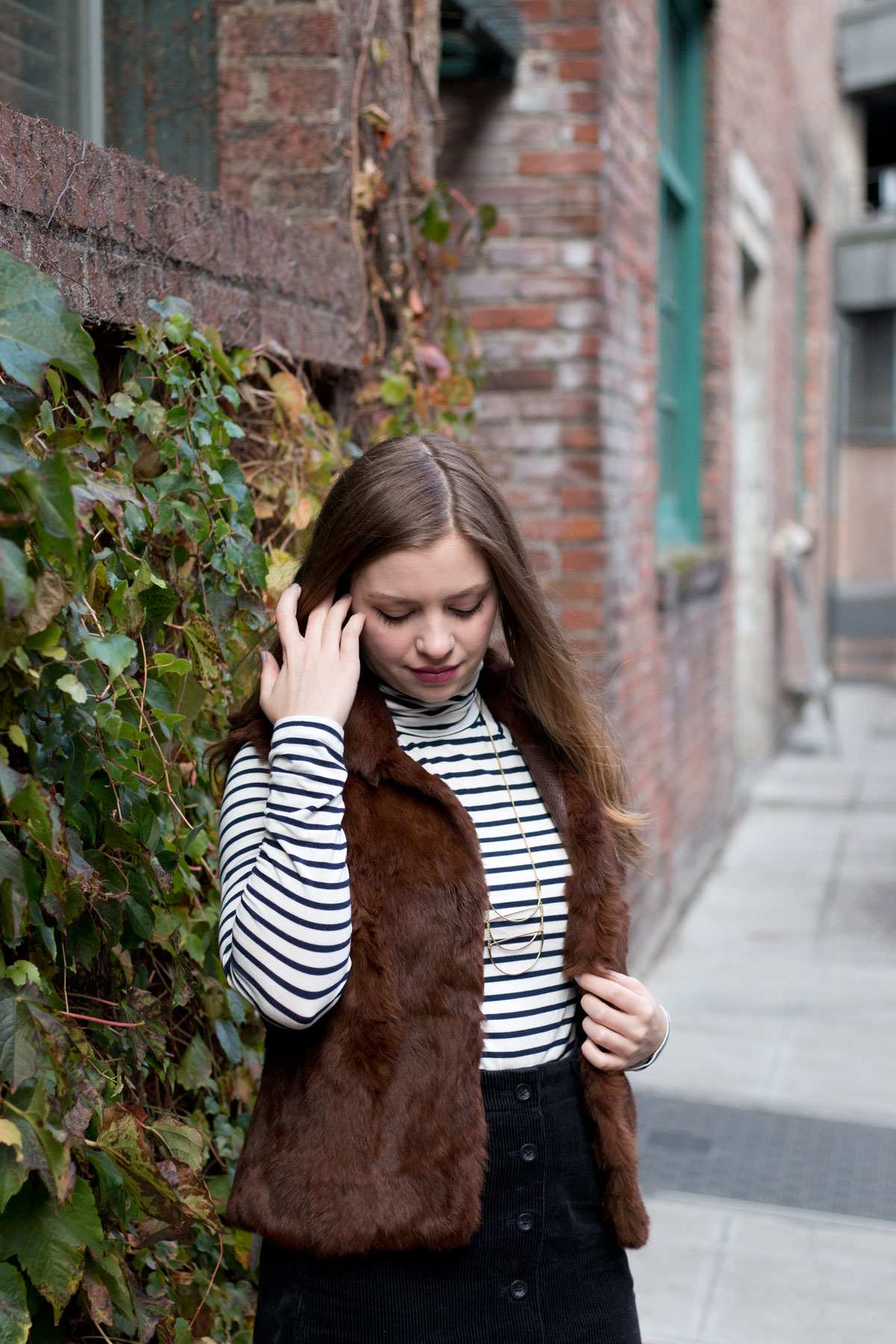 How to Wear a Fur Vest // hellorigby.com seattle fashion blog