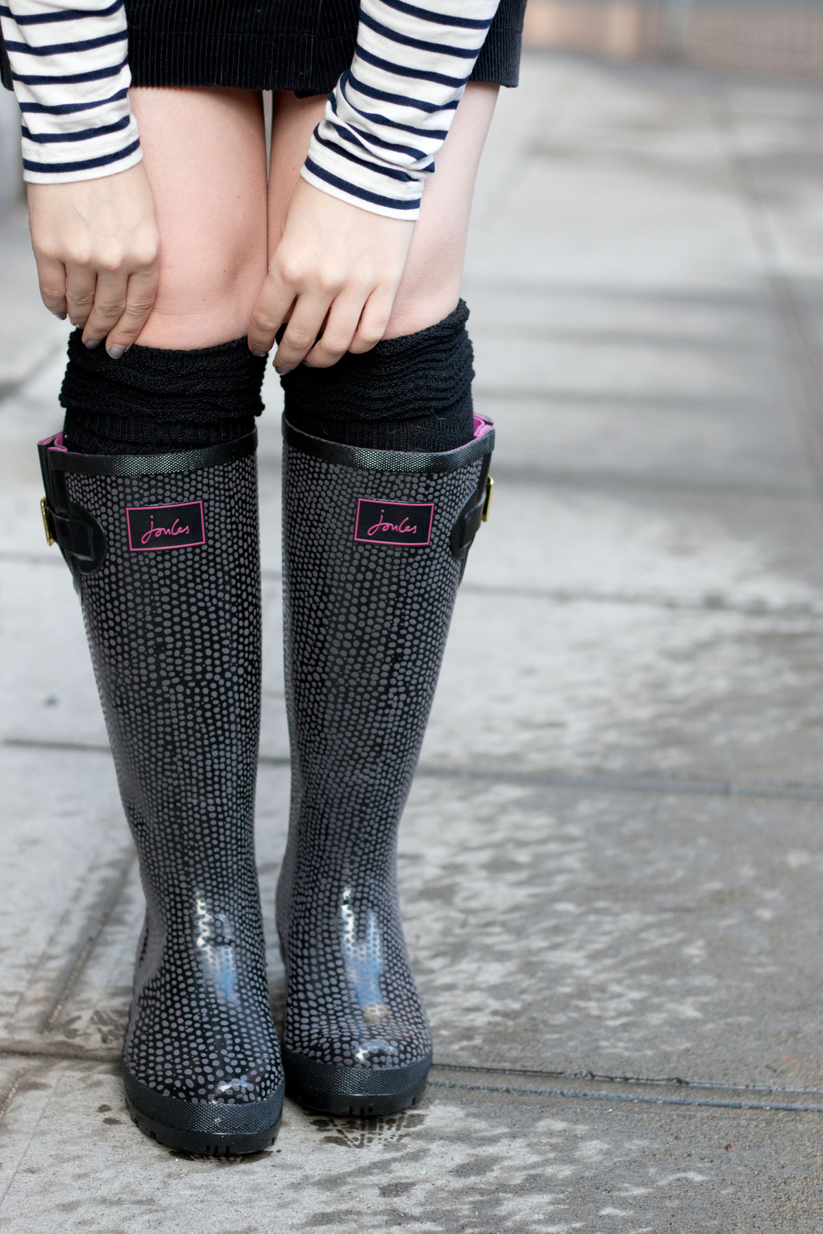 Joules Wellies London Rain Boots Outfit // hellorigby.com seattle fashion blog