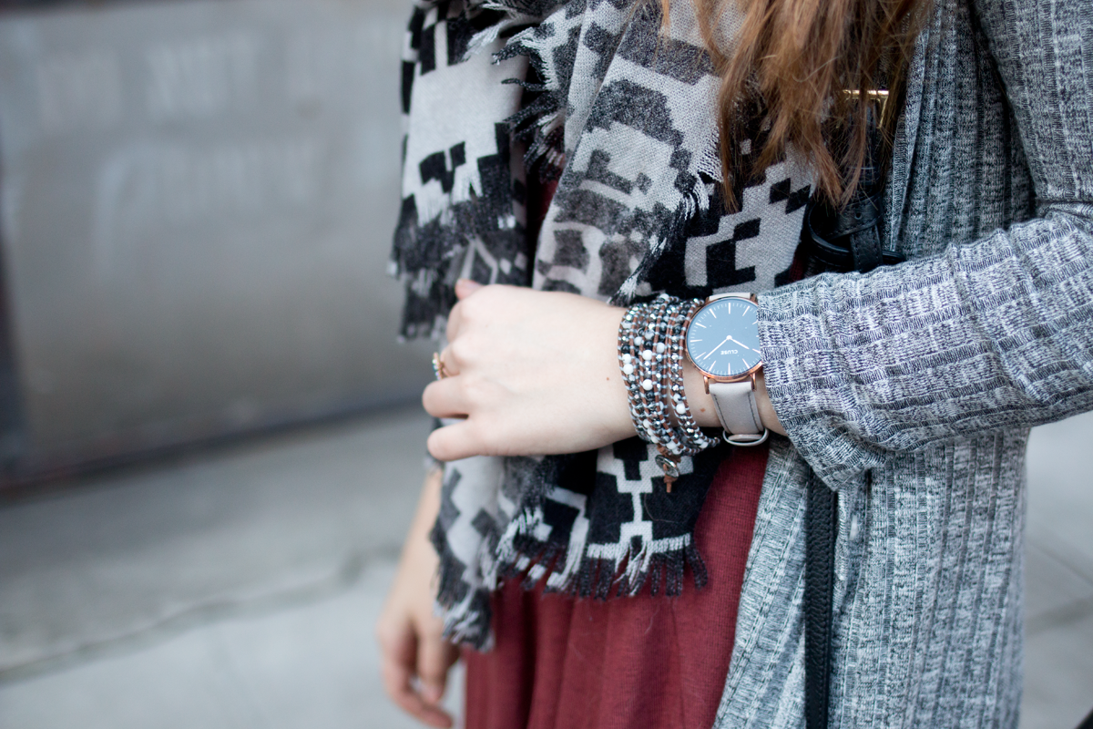Day to Night Look with Victoria Emerson Wrap Bracelet & Cluse Watch Accessories // hellorigby.com seattle fashion blog